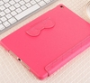 Colorful leather case for iPad Air flip case with elastic string OEM factory/Hello kitty cute PU leather case for ipad