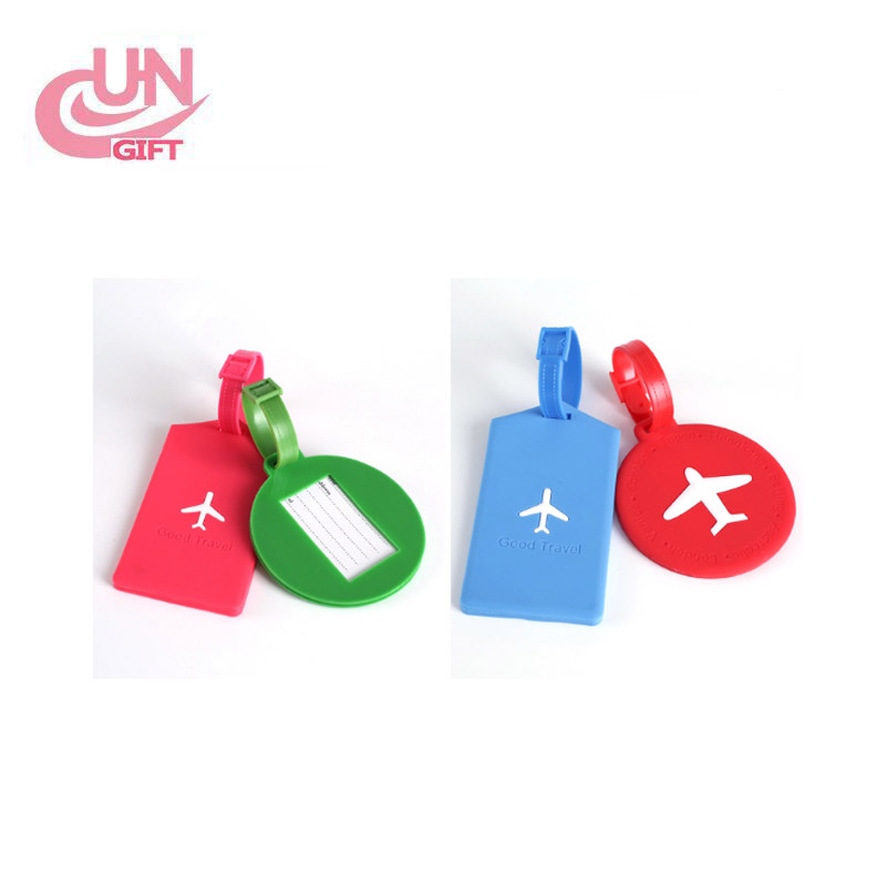Silicone Luggage Tag Round Square Travel Name Tag ID Card Luggage Tag