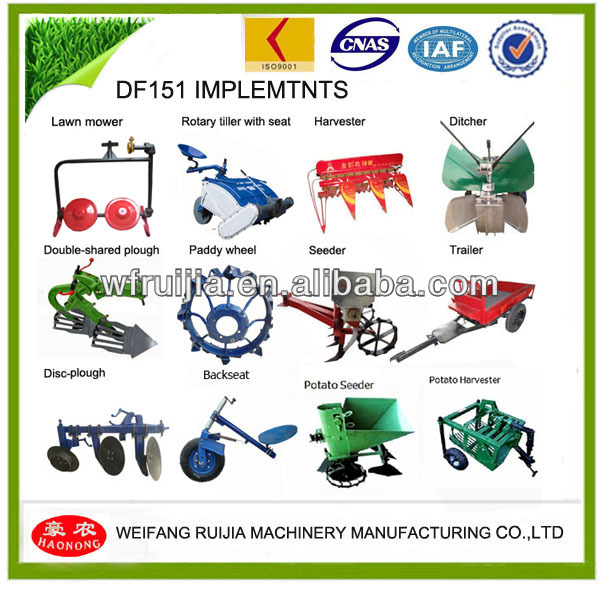 100%HOT SALE! Walking Tractor/Small Garden Tractor Farm Tools
