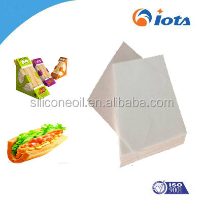food wrapping paper IOTA Food-grade grease proof paper use for pack burgers