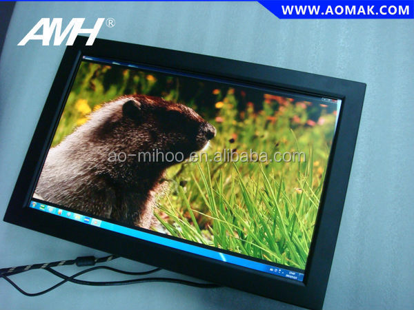 "Black Color Metal Housing 21"" Desktop PC IR touch screen monitor factory"