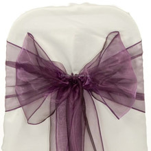 Wedding banquet chair cover and organza sash