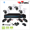 With Cable and Power Supply 4CH DVR and Camera Package Home Security Camera System Outdoor