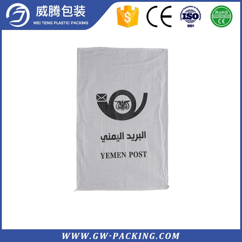 Up-to-date styling clear plastic zipper PP woven courier mailing bags with handles