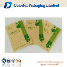 2015 Quick delivery,factory price!Customized brown kraft paper seeds food packing bag with zipper for seeds