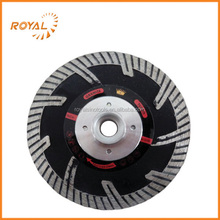 115mm black-coated circular diamond saw blade with flange