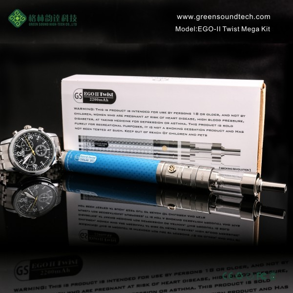 Bulk Hookahs EGoII Variable Voltage Twist Mega Bulk Ego Ecig Hookahs