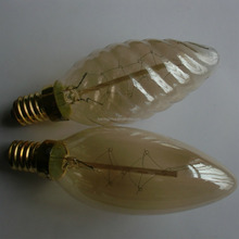 Vintage style C35 candle shape water wave edison light bulb