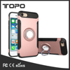 2 in 1 Hybrid Soft TPU Hard PC Ring Bracket Phone Shell Car Mount Holder Plastic Armor Case For iPhone 6 6s 7 plus For samsung