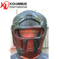 Leather Head guard with face cover