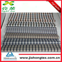 50% cotton 45% polyester check fabrics in silky finishing
