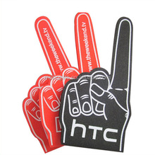 #1 No.1 Custom Red Foam Hand Sponge Hand Foam Finger with index finger point upward