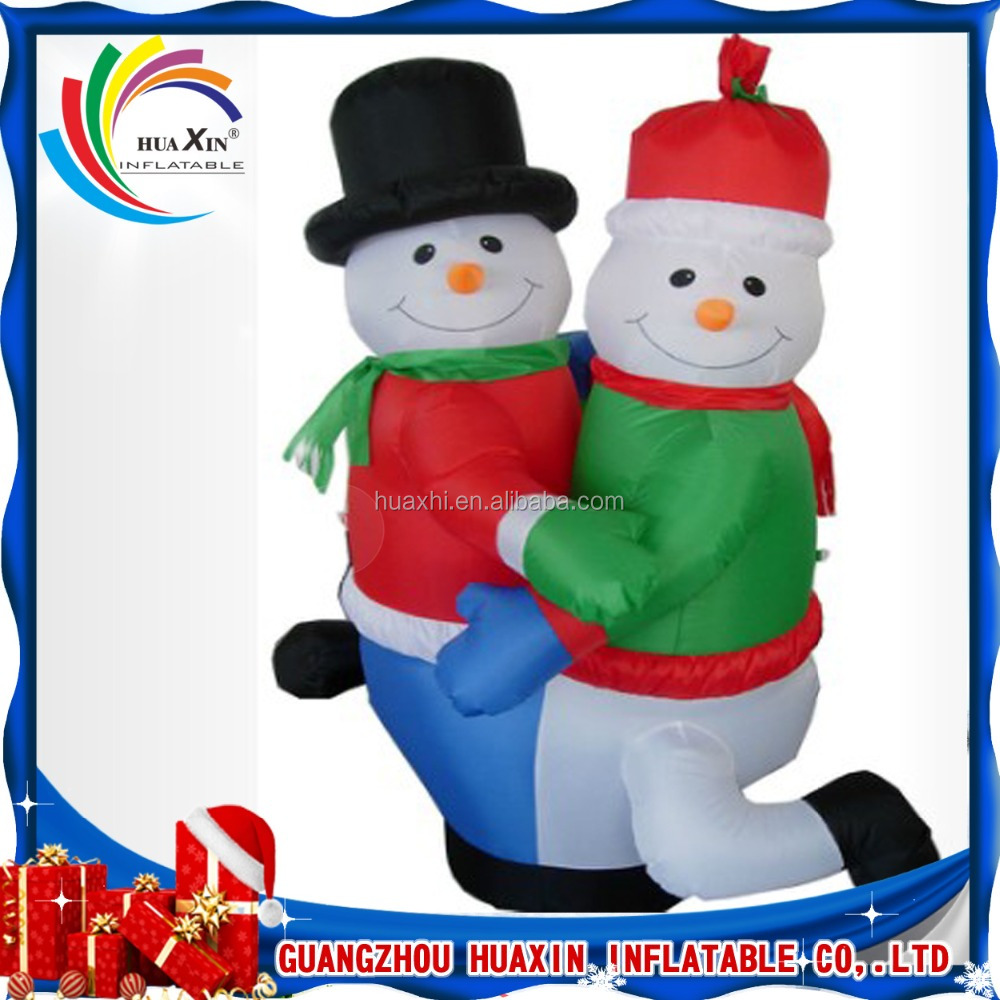 New style Star Christmas Party Decoration Lovely Inflatable dancing santa snowman