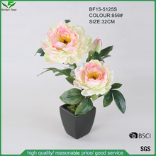 32 CM Pink White Colours Artificial Peony Flower for Interior Decor