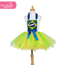 summer dream yarn little girl blue suspender yellow dress sleeveless ruched clothing baby girls suspender dress