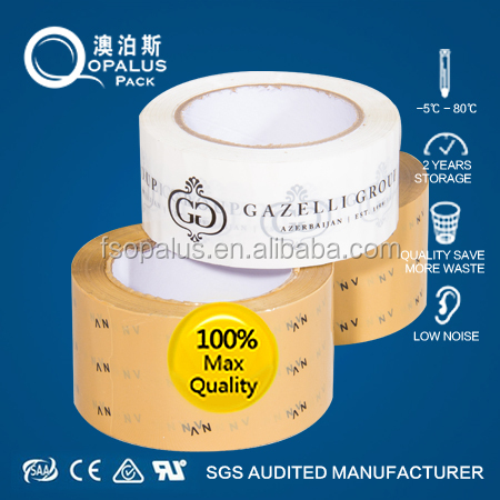 Acrylic single sided bag sealing printed bopp packing tape rolls