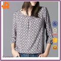 Best Selling Clothes Latest Fancy Tops Girls Three Quarter Length Sleeve 2017 Blouse Women Summer