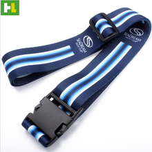 Durable luggage bags strap belt material metal luggage belt name tag