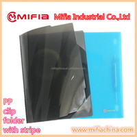 Translucent A4 PP hard plastic cover report file folder with corner protection
