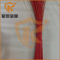 Manufacturer strong tensile for weaving various color red pvc coated steel wire rope