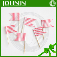 Hot Sale 2015 Eco-friendly Decorative Birthday Flag Toothpick