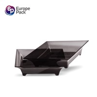 European Fashionable restaurant home party disposable 4.5g plastic flat dish plate bowl set