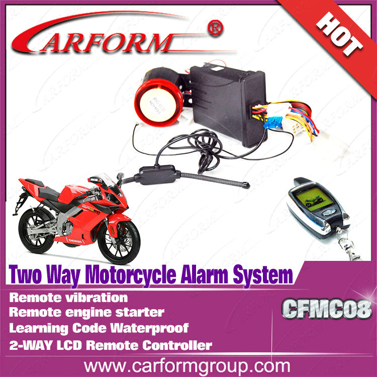 Remote Engine start alarm system motorcycle
