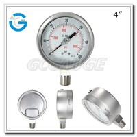 High quality all stainless steel bourdon tube 316 ss pressure gauge