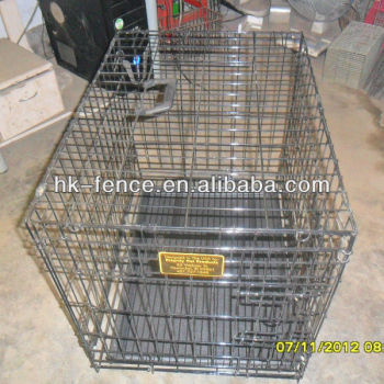 "Premium Quality 42"" Folding Pet Crate Kennel Wire Cage for Dogs Cats or Rabbits"