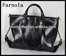 imported designs fashion simple custom size crazy horse leather women shoulder handbags