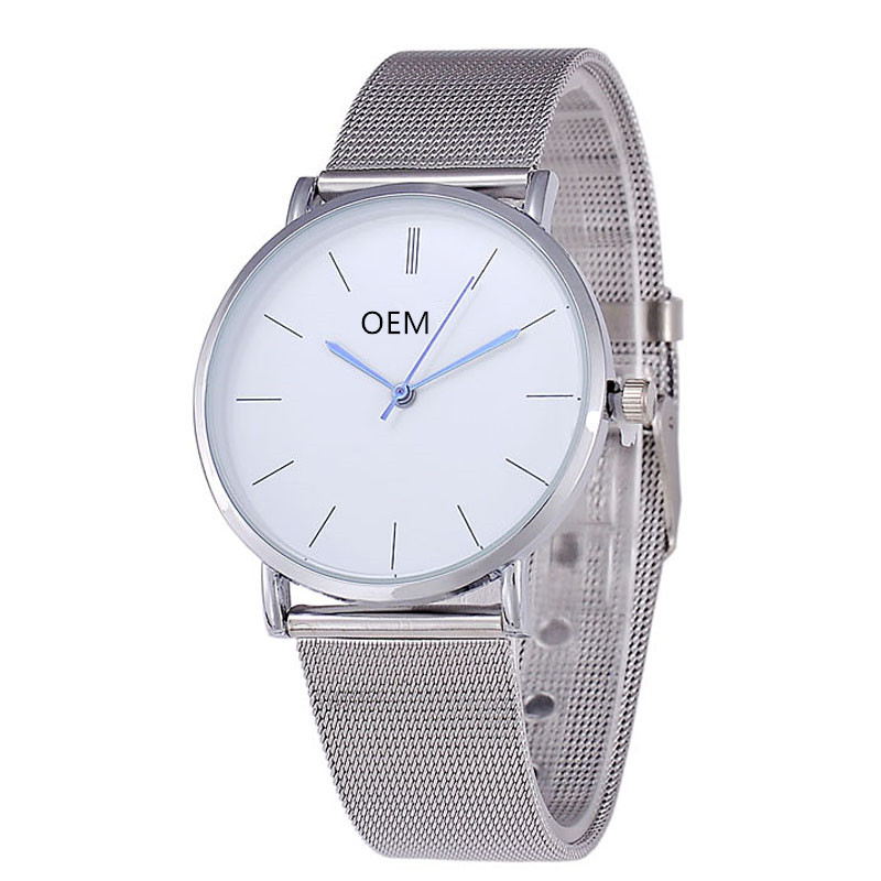 Brand Your Own Watch Alloy Mesh Band Design Watch ODM/OEM