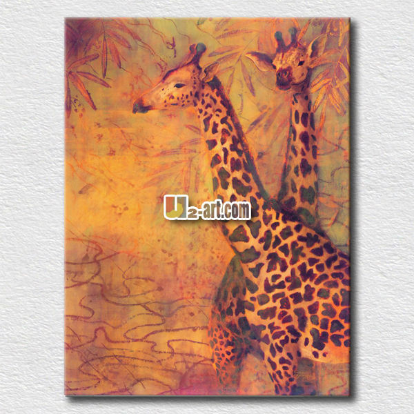 African wild animal poster deer oil painting on canvas