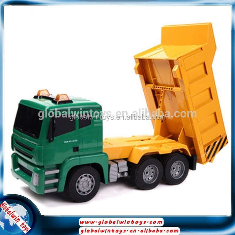 Fancy car model for 2016 attractive design/good quality/safe material dump truck toy rc dump truck for sale