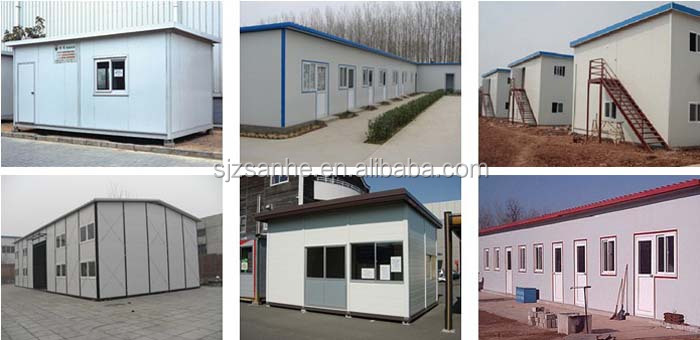Flat roof prefabricated house good quality and good price