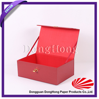 Empty red packaging box magnetic cardboard box
