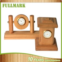 Creative unique good wooden stand clock
