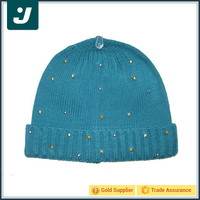 Unique fashion knitted hat women's winter beanie 2016