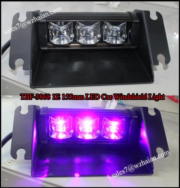 Special Purplr LED Inner Strobe Visor Lights/150mm LED Flash Warning Window Light/Universal LED Traffic Signal Light TBF-3868 1E