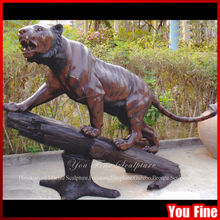 Outdoor Life Size Animal Bronze Tiger Statue