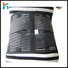 Deluxe double pull lumbar brace/lower back belt for pain relief, widen back support breathable material