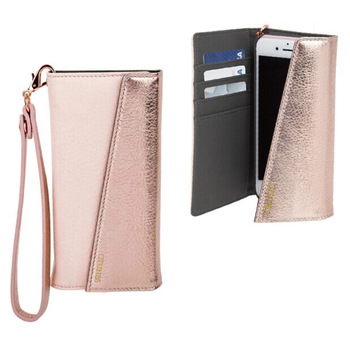 C&T Lady Hand Strap Card Slot Flip Wallet PU Leather Case Cover for iPhone 7