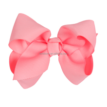 Unique pink polyester bows ribbin flowers for valentines gift sets made in China