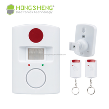 PIR Alert Infrared Sensor Anti-theft Motion Detector Alarm with remote control for home security system