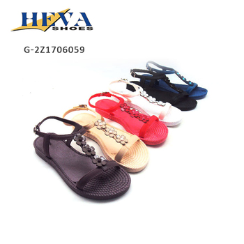 Summer usa simple fashion comfortable new style of pvc flat sandal