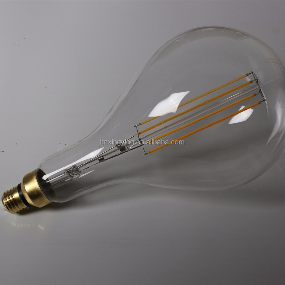 big size dimmable PS52 A160 led filament light <strong>bulb</strong> for home coffee bar decorative lighting 4w 6w 10w ic e27