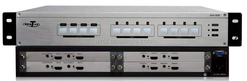 1080p OEM HD seamless video matrix switcher for projector