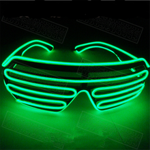 Popular Custom Voice-activated Led Flashing Light Up Shutter Glasses El Wire Led Light Glasses for New Year's day