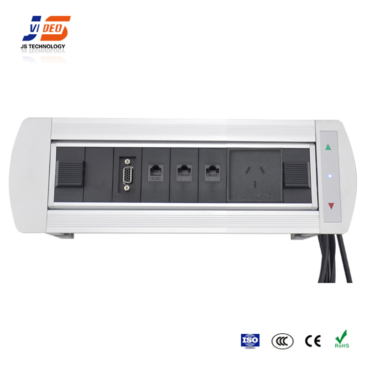JS-MF Conference Multimedia Table Socket Cable Connection Box