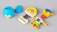 anime character rubber usb flash drive stick bulk cheap for promotion