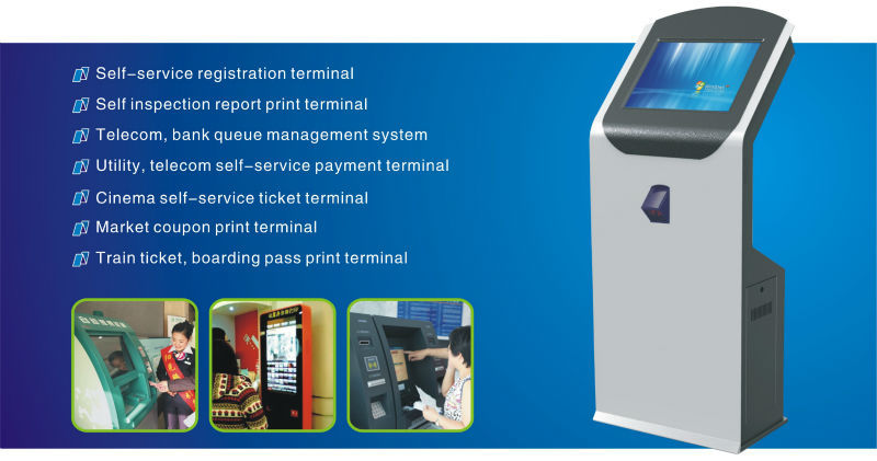 Self-service Terminal Equipment Thermal Coffee shop Kiosk Design Printer Machine